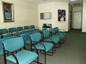 Family and friends will await in a comfortable waiting room.